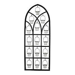 Cutout Cathedral Wall Candle Holder