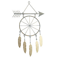 Arrow and Feather Metal Wall Art