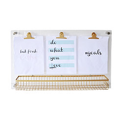Acrylic Memo Board with Basket
