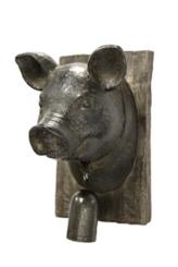 Pig Head Wood Wall Plaque