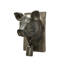 Pig Head Wood Wall Plaque