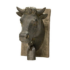Cow Head Wood Wall Plaque