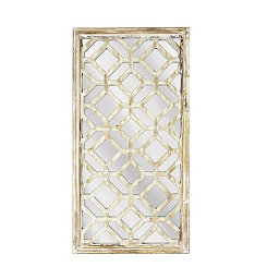 Mirrored Lattice Wooden Wall Plaque