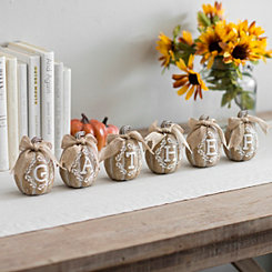 Gather Mini Pumpkin Figurines, Set of 6