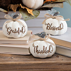 Mini Gratitude Pumpkins, Set of 3