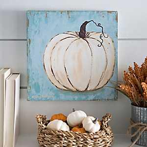 Harvest Blue Pumpkin Canvas Art Print