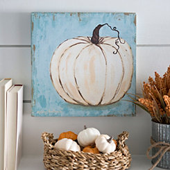 Harvest Blue Pumpkin Canvas Art Print