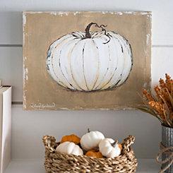 Harvest Tan Pumpkin Canvas Art Print