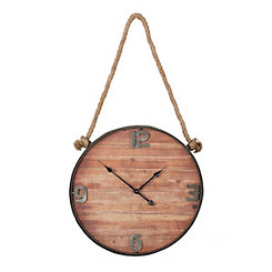 Wood Face Hanging Wall Clock