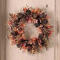 Harvest Oak and Pine Wreath
