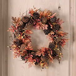 Harvest Oak and Pine Wreath