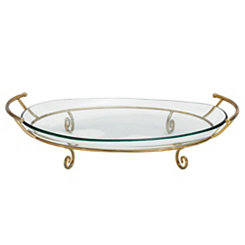 Gold Scroll Cutout Decorative Bowl