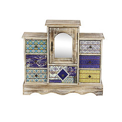 Boho Mirror Jewelry Chest