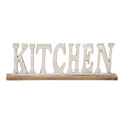 Aluminum and Wood Kitchen Sign