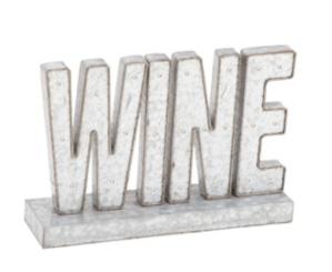 Silver Pre-Lit Wine Word Runner