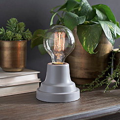 Soft Gray Edison Bulb Uplight