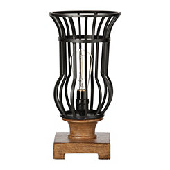 Caged Bronze Metal Edison Bulb Uplight