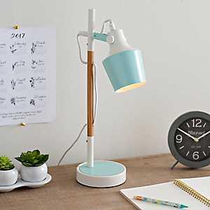 Light Blue Metal Desk Lamp