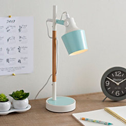 Light Blue Metal Desk Lamp