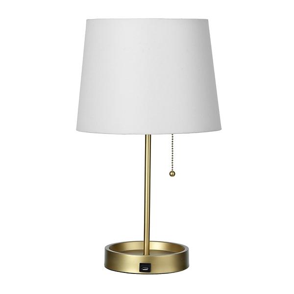 ... Metallic Gold USB Table Lamp ...