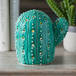 Green Cactus Tabletop Night Light