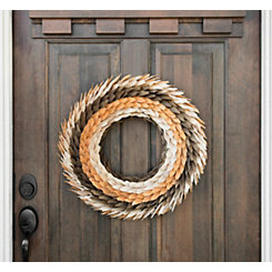 Harvest Wood Chips Wreath
