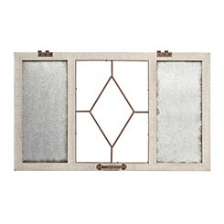 Vintage Windowpane Wall Organizer