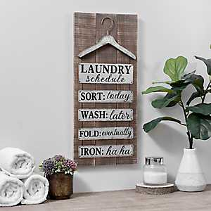 Galvanized Metal Laundry Wall Plaque