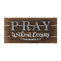 Pray Without Ceasing Wooden Wall Plaque