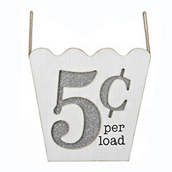 5 Cent Laundry Wall Plaque