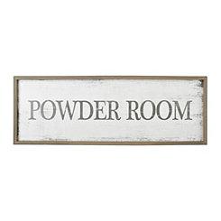 Powder Room Vintage Sign Wall Plaque