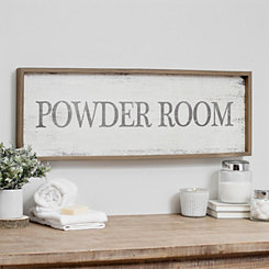 Powder Room Vintage Sign Wall Plaque