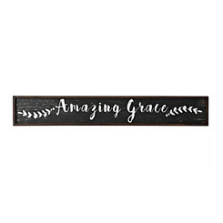 Amazing Grace Wooden Wall Plaque