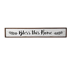 Bless This Home Wooden Wall Plaque