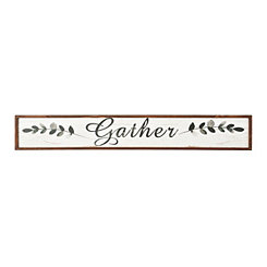 Gather Wooden Wall Plaque