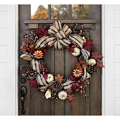Metallic Pumpkin Harvest Wreath