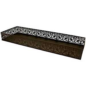Oil Rubbed Bronze Lace Vanity Tray