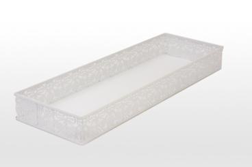 White Lace Vanity Tray