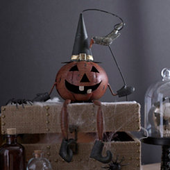 Halloween Jack O' Lantern Shelf Sitter