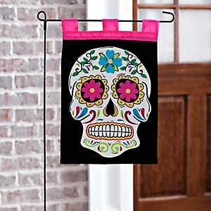 Day of the Dead Sugar Skull Flag Set