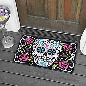 Sugar Skull Day of the Dead Doormat