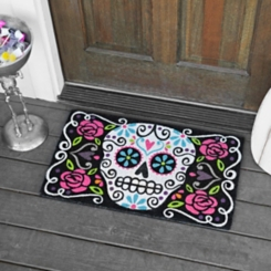 Sugar Skull Day of the Dead Doormat