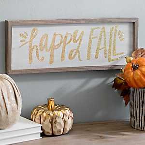 Happy Fall Glitter Barn Box Sign
