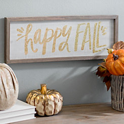 Happy Fall Glitter Barn Box Sign