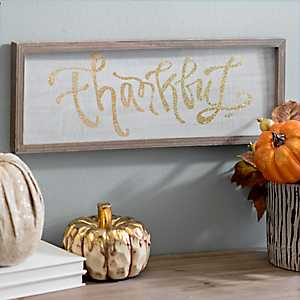 Thankful Glitter Barn Box Sign