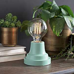 Ice Green Edison Bulb Uplight