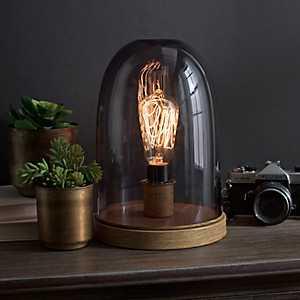 Smoke Glass Dome Edison Bulb Uplight