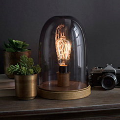 Smoke Glass Dome Edison Bulb Uplight