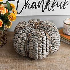 Natural Woven Blue Pumpkin