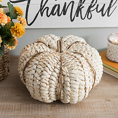 Natural Woven Cream Pumpkin